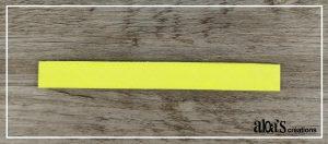 bracelet lanière jaune fluo pour montre poiray ou oj perrin
