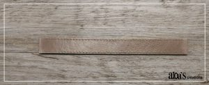 bracelet de montre cuir brun poiray ou oj perrin