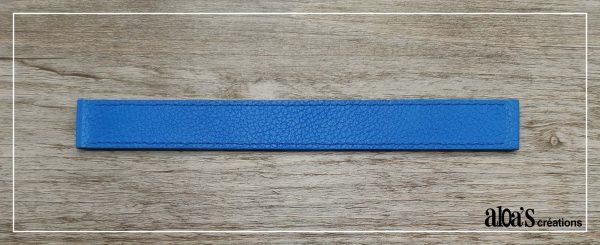 bracelet de montre cuir bleu poiray ou oj perrin