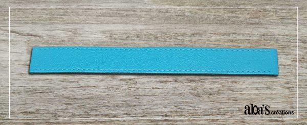 bracelet de montre cuir bleu turquoise poiray ou oj perrin