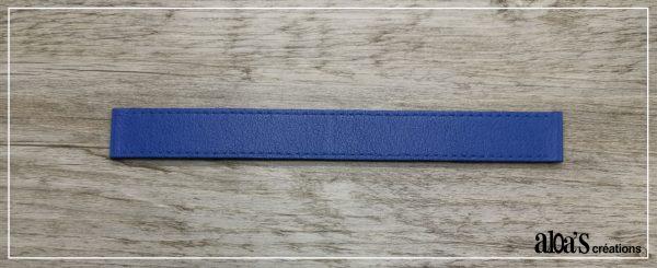 racelet de montre cuir bleu poiray ou oj perrin