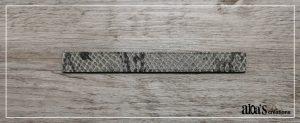bracelet de montre cuir gris poiray ou oj perrin