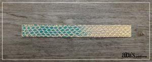 bracelet de montre cuir irisé poiray ou oj perrin